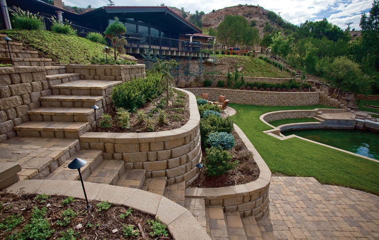 retaining walls as part of landscape