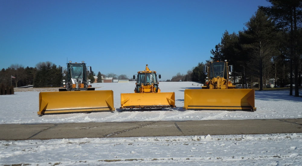 snow plowing trucks
