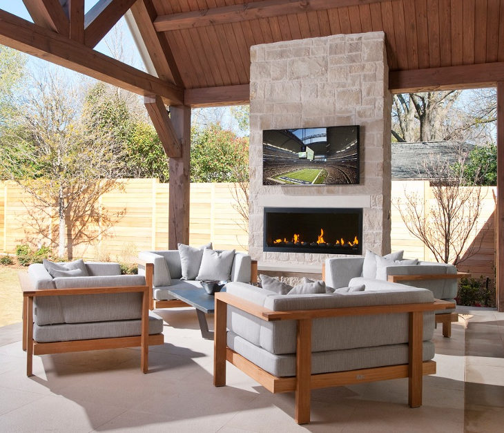 Small-modern-outdoor-Fireplace